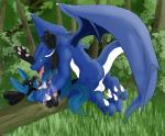 2003 anthro balls black_fur blue_fur canine celestial detailed_background dragon duo firondraak forest fur interspecies lucario male male/male mammal membranous_wings nature nintendo outside penis pokémon pokémorph scalie sex tongue tree video_games wings wood  Rating: Explicit Score: 6 User: slyroon Date: April 23, 2015