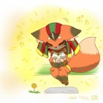 anthro beverage canine chibi concon-collector eyes_closed female flower food fox fur japanese_text mammal no3512 plant simple_background solar_fox_god_ra solo text  Rating: Safe Score: 3 User: Jackalfag Date: April 10, 2016