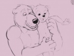 age_difference anthro balls bear big_dom_small_sub compfive cub digital_drawing_(artwork) digital_media_(artwork) duo erection father father_and_son front_view grope humanoid_penis incest lifted looking_at_penis looking_down mammal monochrome naughty_face navel nude open_mouth parent pecs penis signature size_difference sketch smile son uncut young  Rating: Explicit Score: 3 User: Circeus Date: May 01, 2016