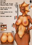2015 anthro big_breasts breasts butt english_text female hands_on_hips model_sheet naga nipples nude pussy romman08 text  Rating: Explicit Score: 7 User: Pasiphaë Date: August 05, 2015