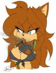 2015 akatsukishiranui-fox anthro big_breasts breasts canine cigar cleavage clothed clothing fan_character female fox mammal smoking solo sonic_(series)  Rating: Questionable Score: 3 User: Robinebra Date: August 01, 2015