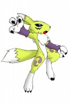 black_sclera blue_eyes canine chibi claws digimon facial_markings female fox fur gloves markings neck_ruff open_mouth plain_background reagan700 renamon solo tooth white_background white_fur yellow_fur   Rating: Safe  Score: 0  User: Test-Subject_217601  Date: December 09, 2011