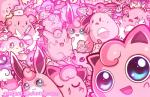 ambiguous_gender audino blissey blue_eyes blush chansey clefable clefairy cleffa corsola crying ditto egg eyelashes eyes_closed feral fish flaaffy geegeet gorebyss group happiny hoppip igglybuff jigglypuff legendary_pokémon lickilicky lickitung looking_at_viewer marine mesprit mew munna musharna nintendo open_mouth pink_theme pokémon pouch_(anatomy) pouch_purse skitty slowpoke smile syringe tears tongue video_games waddling_head wigglytuff