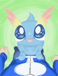 alpacapala amaura ambiguous_gender blue_eyes cute duo first_person_view human male mammal nintendo open_mouth pokémon pokémon_trainer video_games  Rating: Safe Score: 3 User: DeltaFlame Date: April 19, 2015