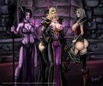 big_breasts big_butt breast_grab breasts butt elf female group human humanoid mammal night_elf not_furry video_games warcraft  Rating: Questionable Score: 2 User: h4x0r Date: March 18, 2015