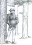 anthro bear bulge chubby clothed clothing forest half-dressed looking_at_viewer male mammal musclegut open_pants outside pants solo topless tree tush   Rating: Explicit  Score: 3  User: confused  Date: May 26, 2013