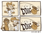 2014 anthro bandanna beaver canine clothed clothing comic cowboy cum duo english_text facial_hair hat humor male mammal masturbation matt_rat mustache nude rodent saliva sheriff spitting spittoon sweat text wolf  Rating: Questionable Score: 20 User: Correen Date: August 26, 2014