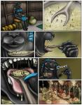 2011 anthro barefoot blood breasts clothed clothing comic death drooling english_text feline female food gore group human larger_female male mammal markie micro open_mouth panther saliva size_difference smaller_male teeth text tongue tongue_out vore  Rating: Questionable Score: -3 User: GameManiac Date: April 28, 2015
