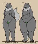 breasts canine chubby comparison female mammal milf mother nude panties parent ramona ramona_alvarez ritts thick_thighs underwear wide_hips wolf   Rating: Questionable  Score: 8  User: ErosThanatos  Date: April 04, 2014