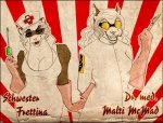 breasts cat cleavage clothed clothing couple dr_steel evil eyewear fangs feline female ferret goggles heterochromia mad_scientist malti mammal medical medical_gloves mustelid nurse scalpel science syringe uniform   Rating: Safe  Score: 5  User: Kald  Date: January 01, 2010