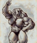 abs anthro biceps big_breasts bodybuilder breasts caprine clothing female happy mammal muscles muscular_female panties pose sheep solo underwear  Rating: Questionable Score: 3 User: misspriss Date: August 01, 2012