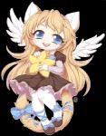 anthro chibi clothed clothing feline female hybrid looking_at_viewer mammal smile solo wings yuxareRating: SafeScore: 0User: Cat-in-FlightDate: October 21, 2016