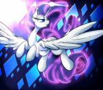 """blue_eyes cutie_mark equine eyeshadow female feral friendship_is_magic hair horn long_hair long_tail madacon makeup mammal my_little_pony purple_hair rarity_(mlp) smile solo winged_unicorn wings  Rating: Safe Score: 2 User: DeltaFlame Date: July 04, 2015"""""""