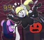 2015 anthro anthrofied arachnid arthropod blush breasts costume derp_eyes derpy_hooves_(mlp) duo equine fangs female friendship_is_magic hair hi_res horn mammal multicolored_hair my_little_pony pegasus purple_hair spider strangerdanger twilight_sparkle_(mlp) two_tone_hair unicorn wings  Rating: Questionable Score: 19 User: 2DUK Date: October 10, 2015