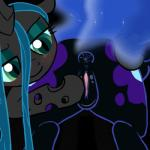 animated anus black_fur blue_hair butt changeling cutie_mark duo equine female friendship_is_magic fur green_eyes green_hair grey_fur hair horse mammal mittsies my_little_pony nightmare_moon_(mlp) pony pussy queen_chrysalis_(mlp) tiarawhy zed001  Rating: Explicit Score: 35 User: Komodogod Date: January 01, 2014