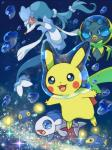 bubble chinchou dewpider feral group lanturn nintendo pikachu pokémon pokémon_(species) primarina sen_pic underwater video_games water wishiwashi_(solo_form)