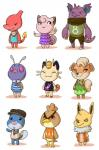 animal_crossing charmeleon clefairy crossover eeveelution farfetch'd growlithe jolteon meowth nidoking nintendo pokémon poliwag turtle-arts venonat video_games  Rating: Safe Score: 7 User: Rad_Dudesman Date: November 17, 2015
