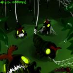 ambiguous_gender caterpie creepy feral glowing glowing_eyes green_eyes group leaf looking_at_viewer nintendo open_mouth outside pokemonfromhell pokémon spider_web video_games water   Rating: Safe  Score: 0  User: ThatOnePorcupine  Date: December 03, 2014