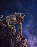 amber_eyes bow canine cliff coyote feathers fur grey_fur male mountain night pose rukis solo stars weapon   Rating: Safe  Score: 19  User: Grinard  Date: October 15, 2013