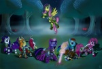 2011 applejack_(mlp) armor blade blonde_hair blue_eyes blue_fur book clothed clothing cutie_mark danosix detailed_background equine female feral fluttershy_(mlp) forest friendship_is_magic fur green_eyes group hair hi_res horn horse looking_at_viewer magic mammal multicolored_hair my_little_pony night orange_fur outside pegasus pink_fur pink_hair pinkie_pie_(mlp) polearm pony purple_eyes purple_fur purple_hair rainbow_dash_(mlp) rainbow_hair rarity_(mlp) red_eyes staff star tree twilight_sparkle_(mlp) two_tone_hair unicorn weapon white_fur wings wood yellow_fur   Rating: Safe  Score: 5  User: Rainbow_Dash  Date: July 19, 2012