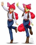 2015 amber_eyes anthro anthrofied apple_bloom_(mlp) bow clothing dancing duo equine female friendship_is_magic hair hi_res horse human humanized mammal my_little_pony mykegreywolf pony pose red_hair   Rating: Safe  Score: 8  User: 2DUK  Date: May 23, 2015