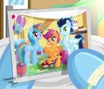 2014 <3 absurd_res balloon blue_hair cake cupcake cutie_mark danmakuman equine female feral food friendship_is_magic green_eyes group hair hi_res male mammal multicolored_hair my_little_pony pegasus photo picture_frame purple_eyes purple_hair rainbow_dash_(mlp) rainbow_hair scootaloo_(mlp) scooter soarin_(mlp) wings wonderbolts_(mlp)  Rating: Safe Score: 14 User: 2DUK Date: October 28, 2014