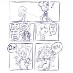 ! 2015 ambiguous_gender anthro arachnid arthropod butt butt_grab butt_slap child clothed clothing comic dialogue dress duo english_text fangs female hair hair_bow hair_ribbon hand_on_butt hi_res human humor lol_comments looking_back mammal meme monochrome muffet multi_eye multi_limb open_mouth parody plagueofgripes protagonist_(undertale) ribbons slap smile speech_bubble spider text that's_kind_of_hot undertale video_games youngRating: QuestionableScore: 184User: ROTHYDate: November 03, 2015