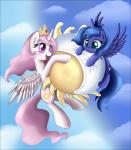 2013 absurd_res blue_fur blue_hair cloud cloudscape crown cutie_mark duo eclipse equine female feral flying friendship_is_magic fur hair hi_res horn long_hair mammal my_little_pony open_mouth outside pillow pink_hair pridark princess_celestia_(mlp) princess_luna_(mlp) purple_eyes royalty sibling sisters sky smile teal_eyes white_fur winged_unicorn wings young  Rating: Safe Score: 11 User: Somepony Date: June 19, 2014