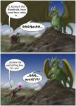 ! 2011 ? ?! ajder ambiguous_gender angry anthro argonian blue_sky claws clothed clothing comic day dialogue dragon english_text feral flower green_scales hi_res horn humor male mountain outside plant scales scalie sky text the_elder_scrolls video_games western_dragon wings  Rating: Safe Score: 30 User: syrmat Date: October 30, 2015