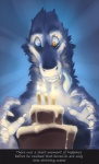 2012 ambiguous_gender anthro blue_background blue_eyes blue_fur cake candle claws digital_media_(artwork) dripping english_text fangs fish food fur looking_down marine orange_eyes sergal shark simple_background solo teeth text watermark white_sclera wolfy-nail  Rating: Safe Score: 3 User: DirtyRatMatt Date: May 01, 2016