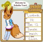 animal_crossing anthro avian beak bird brown_eyes clothing crossover dress eevee english_text eversparks feathers female fur hair hairpin legwear looking_at_viewer nintendo one_eye_closed open_mouth pokémon smile solo stockings text video_games wings wink   Rating: Safe  Score: 4  User: Deatron  Date: November 10, 2013