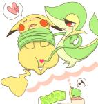 <3 ambiguous_gender bed belly blush censored creative_censorship dream drooling duo eyes_closed female fur green_skin musical_note nintendo on_bed open_mouth pikachu pillow pleasured pokémon ppp pussy_juice red_eyes saliva snivy tentacles under_covers vaginal video_games white_belly yellow_fur   Rating: Explicit  Score: 3  User: Hydr0  Date: January 23, 2015
