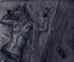 anthro breasts canine dark eyes_closed female java lying mammal monochrome on_back sketch solo topless wolf   Rating: Questionable  Score: 1  User: nava  Date: August 15, 2011