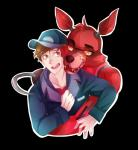 animatronic canine five_nights_at_freddy's fox foxy_(fnaf) glowing glowing_eyes hat hook human machine male mammal mechanical mike_schmidt robot teeth thehobbyhorse video_games yellow_eyes   Rating: Safe  Score: 1  User: Vallizo  Date: April 26, 2015