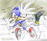 2009 <3 blush clothing fakerface footwear gloves green_eyes kissing male shoes silver_the_hedgehog sonic_(series) sonic_the_hedgehog  Rating: Questionable Score: 0 User: Untamed Date: August 30, 2015
