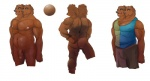 anthro bear clothed clothing front_view invalid_tag male mammal multi_head neonigma3 nevets nude penis simple_background white_background  Rating: Explicit Score: 1 User: mutanimal Date: May 01, 2016