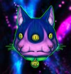 abstract_background cat collar cool_colors feline fur mammal multicolored_fur multiple_eyes pink_fur purple_fur sazzer space spade surreal two_tone_fur yellow_eyes  Rating: Safe Score: 1 User: tartcore Date: September 11, 2015
