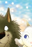 """2011 blue_eyes brown_fur canine caprine duo eye_contact feral fur gabu gallone goat green_eyes hi_res mammal mei_(one_stormy_night) one_stormy_night wolf  Rating: Safe Score: 9 User: Lizardite Date: June 30, 2015"""""""