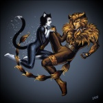 2008 anthro belt candra cat cats_(musical) clothing collar couple duo feline fingerless_gloves gloves heterochromia magic male male/male mammal mr._mistoffelees rum_tum_tugger  Rating: Safe Score: 1 User: Hellacious Date: October 10, 2010