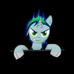 alpha_channel electro_key_(mlp) equine fan_character hair horn looking_at_viewer male mammal multicolored_hair my_little_pony simple_background solo techno_pony transparent_background unicorn