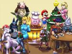 2010 abs alternate_color armor black_fur blonde_hair blue_eyes blue_fur blue_hair bom-omb boots brown_fur canine chair christmas clothed clothing crossover crown dress eating facial_hair female fire_emblem food fox fox_mccloud fur gift gloves grey_fur group hair hat headband hi_res holding holidays human ike jacket kirby kirby_(series) legendary_pokémon link lucario luma male mammal mario mario_bros metroid mewtwo mistletoe muscles muscular_female mustache mykiio nintendo nude open_mouth pig plant pokémon ponytail porcine princess_peach purple_eyes purple_skin red_eyes royalty samus_aran scarf star_fox super_smash_bros table the_legend_of_zelda tree video_games white_fur white_skin wolf wolf_o'donnell zero_suit   Rating: Safe  Score: 1  User: GameManiac  Date: March 30, 2015