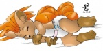 2002 anthro baby brown_fur canine cub cute diaper eyes_closed fox fur mammal multi_tail nintendo paws pokémon simple_background sleeping solo sucking thumb_suck unknown_artist video_games vulpix young  Rating: Safe Score: 1 User: Nugget91 Date: January 30, 2016