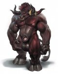 2014 anthro balls barefoot biceps big_balls big_feet big_nipples big_penis bovine darkgem frown hair hooves horn looking_at_viewer male mammal manly multi-colored_hair muscles navel nipples nude pecs penis precum short_hair solo squint standing tauren thick_penis video_games warcraft world_of_warcraft   Rating: Explicit  Score: 17  User: WiiFitTrainer  Date: June 19, 2014