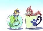 2011 ambiguous_gender black_eyes blue_eyes blue_scales bowl capcom chibi claws cup cute duo female feral fin fish fish_bowl flippers marine monster_hunter pawprint pink_rathian pink_scales plain_background plesioth rathian scales scalie video_games water white_scales wyvern yellow_scales ケル。   Rating: Safe  Score: 10  User: Mutisija  Date: February 25, 2015