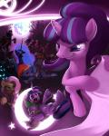 2015 abstract_background angry applejack_(mlp) armor clothing cutie_mark dragon drone_(mlp) earth_pony equine fangs feathered_wings feathers female feral fluttershy_(mlp) friendship_is_magic grin horn horse king_sombra_(mlp) male mammal moon moonlitbrush_(artist) my_little_pony nightmare_moon_(mlp) pinkie_pie_(mlp) pony queen_chrysalis_(mlp) rainbow_dash_(mlp) rarity_(mlp) scalie sky spike_(mlp) starlight_glimmer_(mlp) teeth tree twilight_sparkle_(mlp) unicorn winged_unicorn wings  Rating: Safe Score: 17 User: ConsciousDonkey Date: April 06, 2016