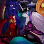 anus dragk duo equine female feral friendship_is_magic halloween holidays horn horse mammal my_little_pony pony princess_celestia_(mlp) princess_luna_(mlp) pussy smile winged_unicorn wings   Rating: Explicit  Score: 8  User: KrzykaczNerwus  Date: November 05, 2013