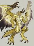 """2015 animal_genitalia anthro barbs black_penis black_scales capcom claws dragon edit elder_dragon erection furikake genital_slit grey_background herm horn intersex monster_hunter muscles nude open_mouth orange_eyes penis plain_background pose pussy scalie shagaru_magala slit solo teeth toe_claws video_games white_scales wings yellow_scales  Rating: Explicit Score: 8 User: GameManiac Date: July 03, 2015"""""""