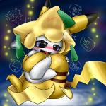 blush box_xod cute duo happy japanese_text jirachi legendary_pokémon nintendo open_mouth pikachu pokémon smile text tongue video_games  Rating: Questionable Score: 3 User: nightwolf000 Date: June 07, 2015