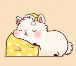 ambiguous_gender blush camelid fur hat huiro llama llamama mammal pillow sleeping solo white_fur  Rating: Safe Score: 4 User: slyroon Date: July 19, 2014