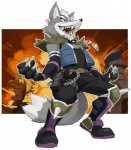 anthro armor avian canine claws clothing falco_lombardi fox fox_mccloud fur gloves grey_fur laugh male mammal necklace nemurism nintendo parody shoulder_guards smile solo standing star_fox super_smash_bros video_games wolf wolf_o'donnell wryyyyyyyyyyyyyyyyyyyy  Rating: Safe Score: 12 User: Kitsu~ Date: August 07, 2009